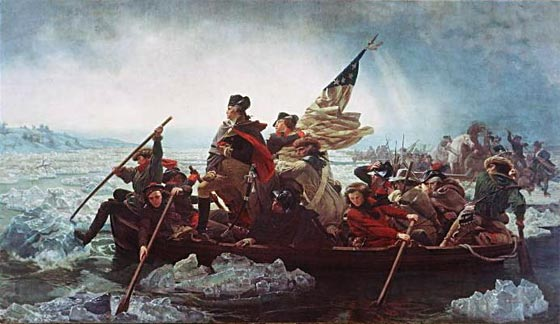 George Washington crossing the Delaware at the Battle of Trenton