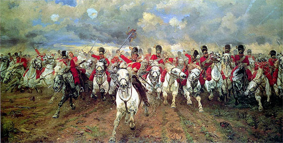 Royal Scots Greys at the Battle of Waterloo