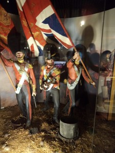 The Colours of the Scots Fusilier Guards at the Battle of the Alma in 1854: Guards Museum display