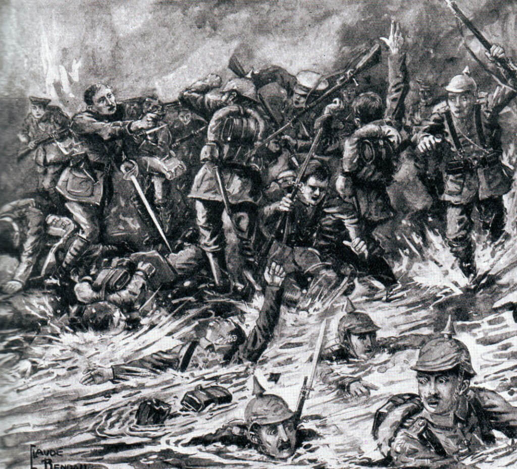 Fighting on the Marne River