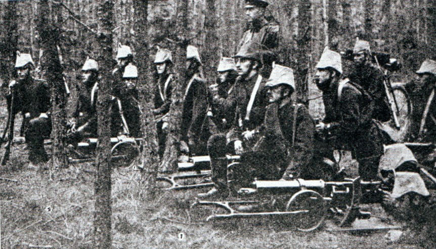 German Garde Jӓger machine gunners
