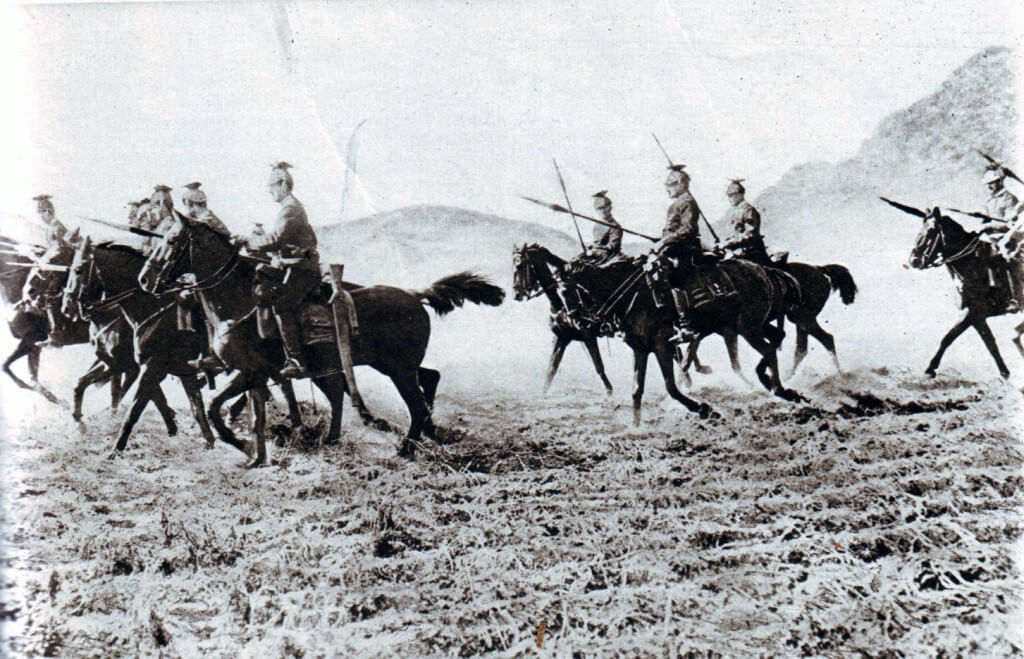 German Uhlans advancing to the attack
