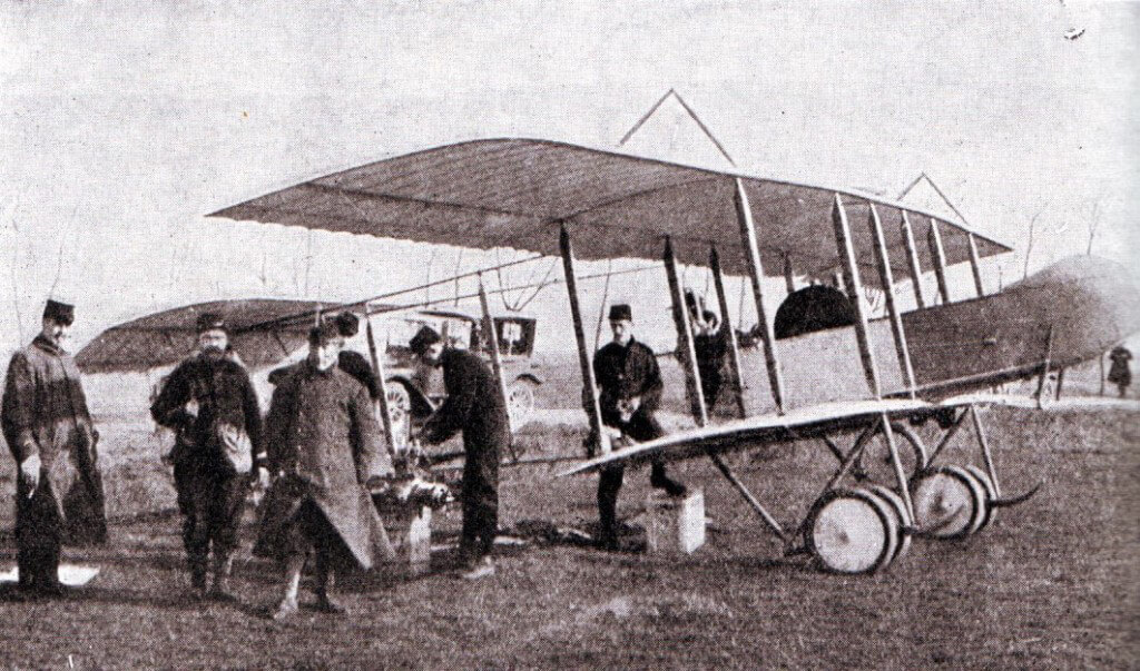 French aircraft being repaired in the field