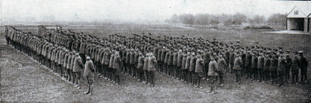 The Royal Flying Corps on parade