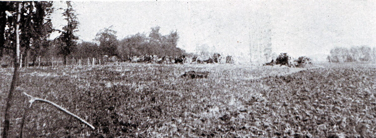 British RFA battery in action during the Battle of the Aisne