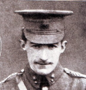 Captain Wright Royal Engineers awarded the Victoria Cross for his conduct at Mons and the Aisne.  Captain Wright was killed on 14th September 1914