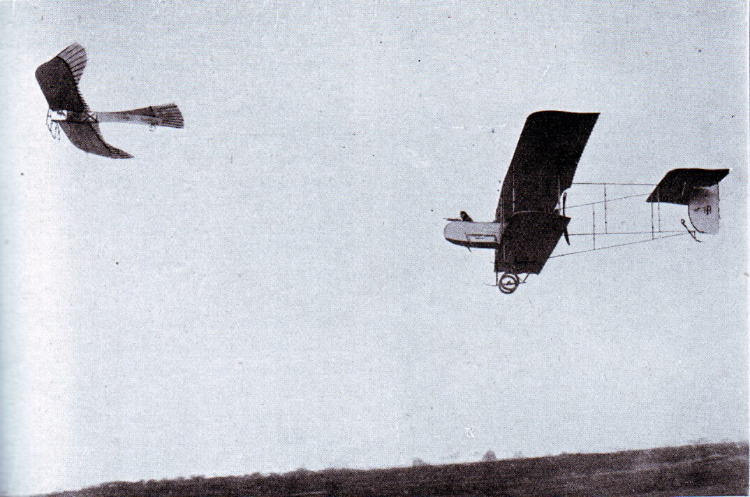 A French aircraft chasing a German Taube