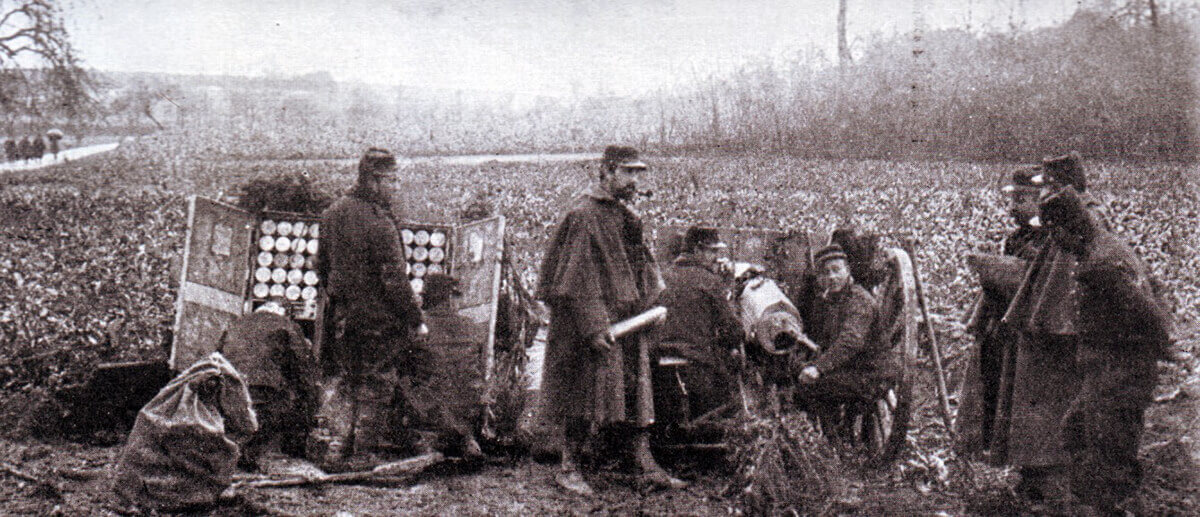 French 75mm field gun ready for action during the Battle of the Aisne