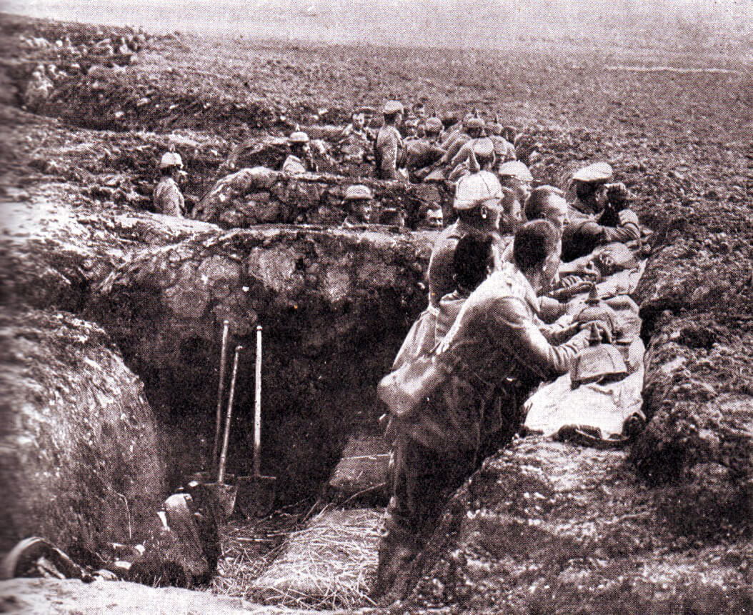 German entrenched position during the Battle of the Aisne