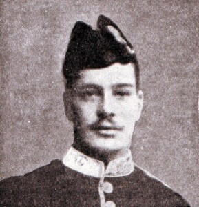 Private George Wilson 2nd HLI awarded the Victoria Cross for his conduct at the Battle of the Aisne