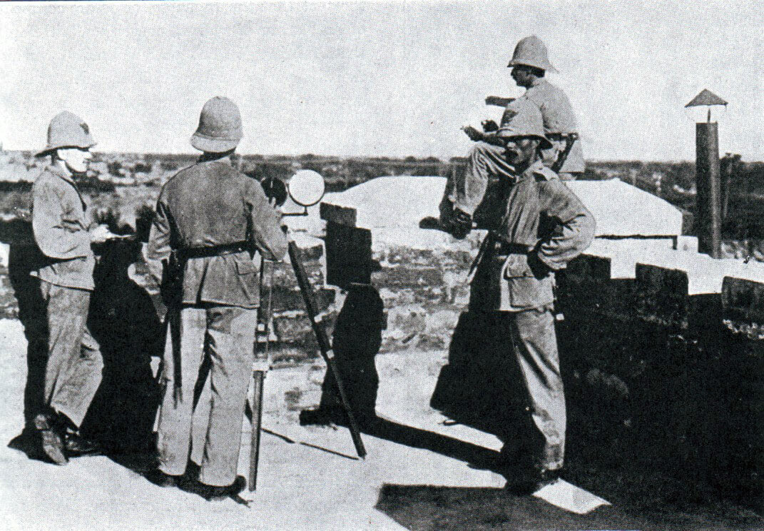 German Marines at Tsing Tao: Battle of Coronel on 1st November 1914 in the First World War