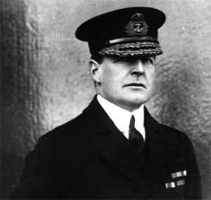 Rear Admiral David Beatty RN. Beatty's battle cruiser squadron was despatched by the Commander-in-Chief of the Grand Fleet, to provide support for the Heligoland Bight operation on 28th August 1914. Beatty's ships were crucial in winning the battle, sinking the German light cruisers Cöln and Ariadne.