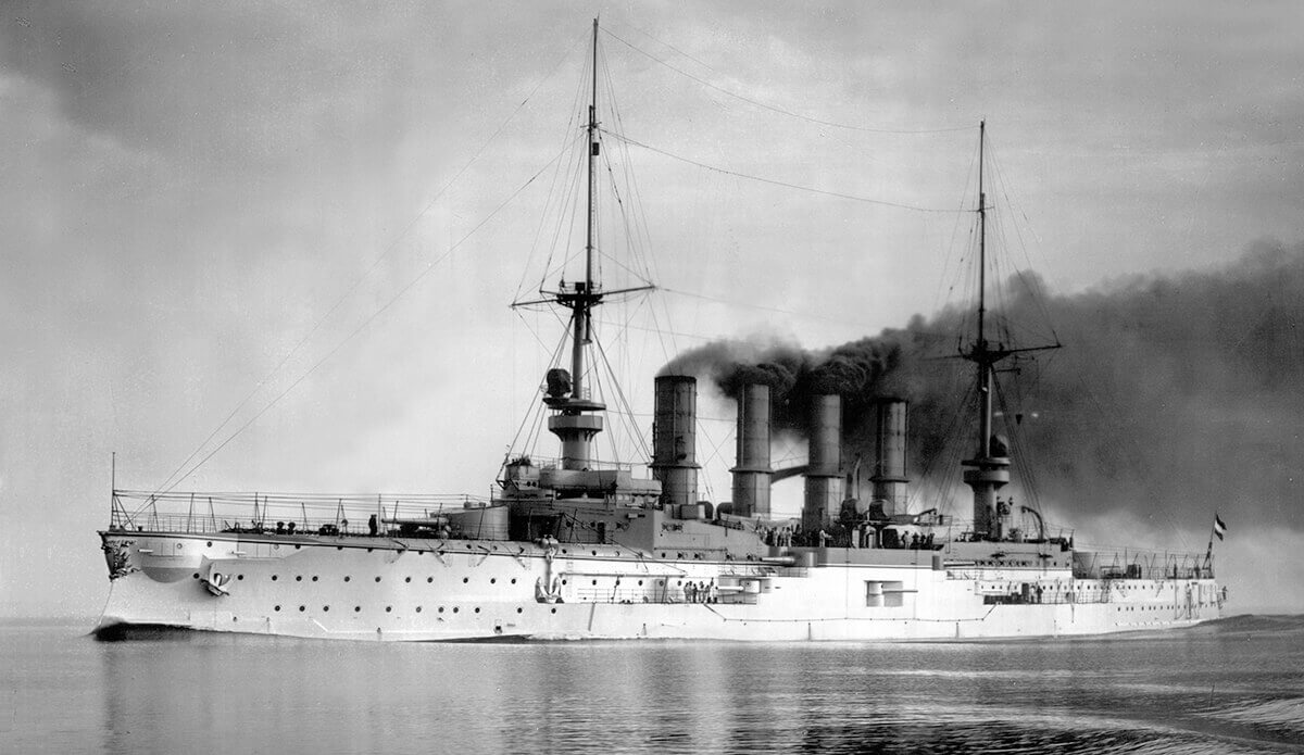 SMS Scharnhorst, the German flagship at the Battle of the Falkland Islands on 8th December 1914. To buy a picture of SMS Scharnhorst click here