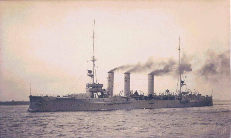 SMS Nürnberg, German light cruiser at the Battle of the Falkland Islands on 8th December 1914