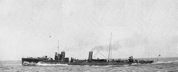German destroyer V187, sunk by Blunt's destroyers during the westward sweep in the Heligoland Bight operation on 28th August 1914