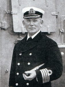 Rear Admiral Stoddart, British second in command at the Battle of the Falkland Islands on 8th December 1914 in the First World War