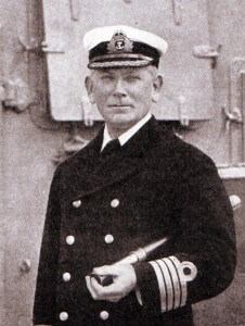 Rear Admiral Stoddart, British second in command at the Battle of the Falkland Islands on 8th December 1914