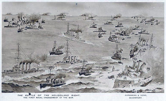 British post card commemorating the Battle of Heligoland Bight.