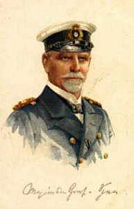 Vice Admiral Reichsgraf Maximilian von Spee, the German admiral at the Battle of the Falkland Islands on 8th December 1914. To buy a picture of Admiral Graf von Spee click here