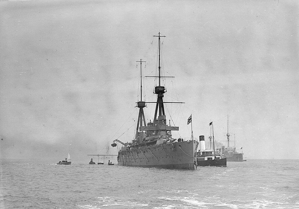 HMS Invincible at Spithead in 1910