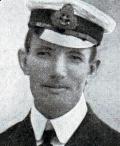 Captain Frank Brandt RN, captain of HMS Monmouth: Battle of Coronel on 1st November 1914 in the First World War