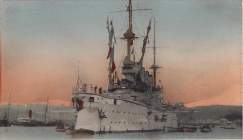 SMS Scharnhorst in harbour. To buy a picture of SMS Scharnhorst click here