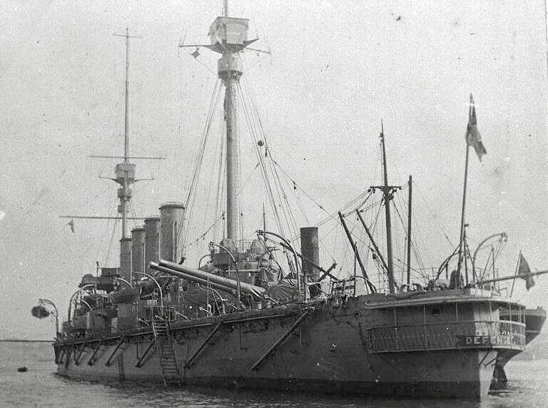 British Armoured Cruiser HMS Defence (sunk at Jutland in 1916):Battle of Coronel on1st November 1914 in the First World War
