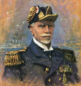 Admiral Graf von Spee commander of the German East Asiatic Squadron at the Battle of Coronel 1st November 1914 in the First World War: picture by Claus Bergen