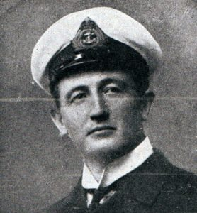 Commander Townsend second in command of HMS Invincible at the Battle of the Falkland Islands on 8th December 1914 in the First World War