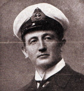 Commander Townsend second in command of HMS Invincible at the Battle of the Falkland Islands on 8th December 1914