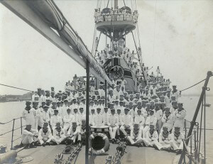 Crew of SMS Nürnberg at Tsing Tao before the Great War