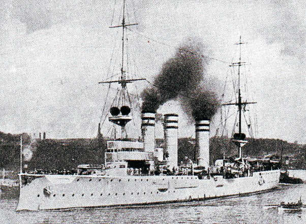 Admiral Graf von Spee's light cruiser SMS Nürnberg: Battle of Coronel on 1st November 1914 in the First World War