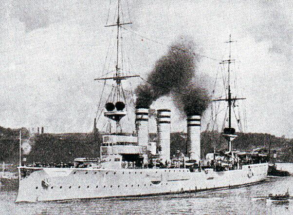 Admiral Graf von Spee's light cruiser SMS Nürnberg:Battle of Coronel on1st November 1914 in the First World War