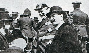 Admiral Graf von Spee in Valparaiso after the Battle of Coronel on1st November 1914 in the First World War