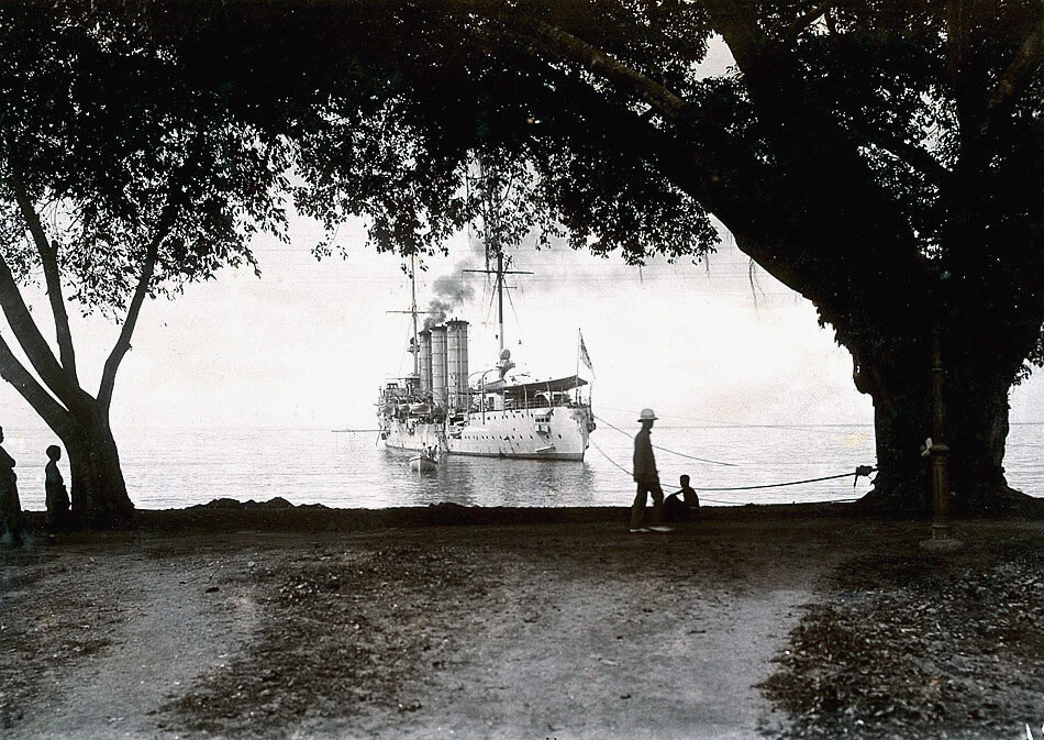 SMS Leipzig in the Pacific in 1912