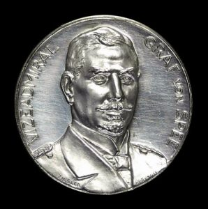 Medal issued in Germany celebrating the German victory atthe Battle of Coronel on1st November 1914 in the First World War
