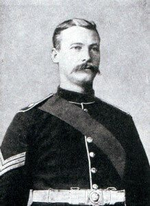 Sergeant Mayes Royal Marine Artillery of HMS Kent awarded Conspicuous Gallantry Medal for his conduct at the Battle of the Falkland Islands on 8th December 1914 in the First World War