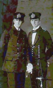 Leutnant Graf Otto von Spee of SMS Nürnberg and Leutnant Graf Heinrich von Spee of SMS Gneisenau, sons of Admiral Graf von Spee, both lost in the Battle of the Falkland Islands on 8th December 1914 in the First World War