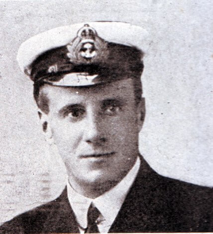 Lieutenant Commander Dannreuther first lieutenant and gunnery officer on HMS Invincible at the Battle of the Falkland Islands on 8th December 1914. Dannreuther was one of the six survivors when Invincible was sunk at Jutland on 31st May 1916