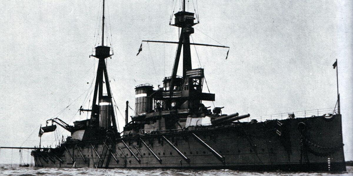 Admiral Graf von Spee's flagship the protected cruiser SMS Scharnhorst:Battle of Coronel on1st November 1914 in the First World War