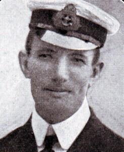 Captain Frank Brandt RN, captain of HMS Monmouth