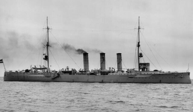 Admiral Graf von Spee's light cruiser SMS Dresden