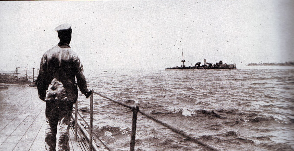 SMS Emden after the action with HMAS Sydney on 9th November 1914
