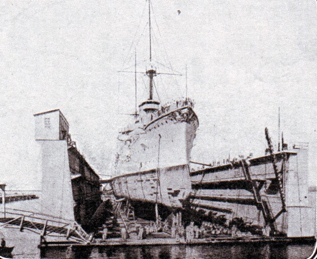 Dry dock in the German naval base of Tsing Tao in North-East China