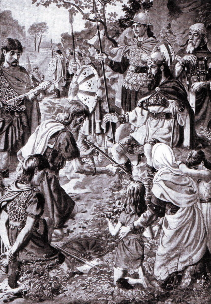 Tribal leaders submitting to Alfred after the battle