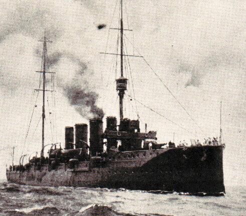 Rear Admiral Sir Christopher Cradock's light cruiser HMS Glasgow