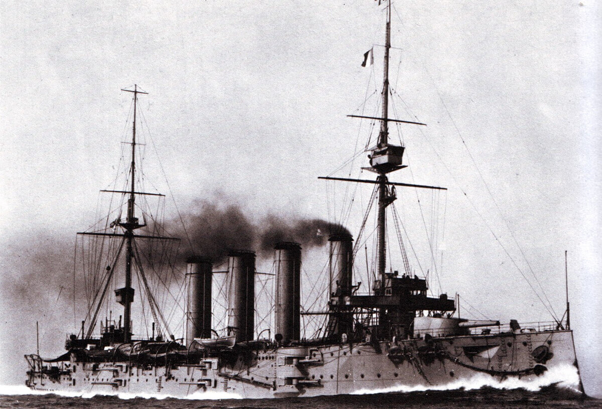 Flagship of Rear Admiral Sir Christopher Cradock the armoured cruiser HMS Good Hope. To buy a picture of HMS Good Hope click here