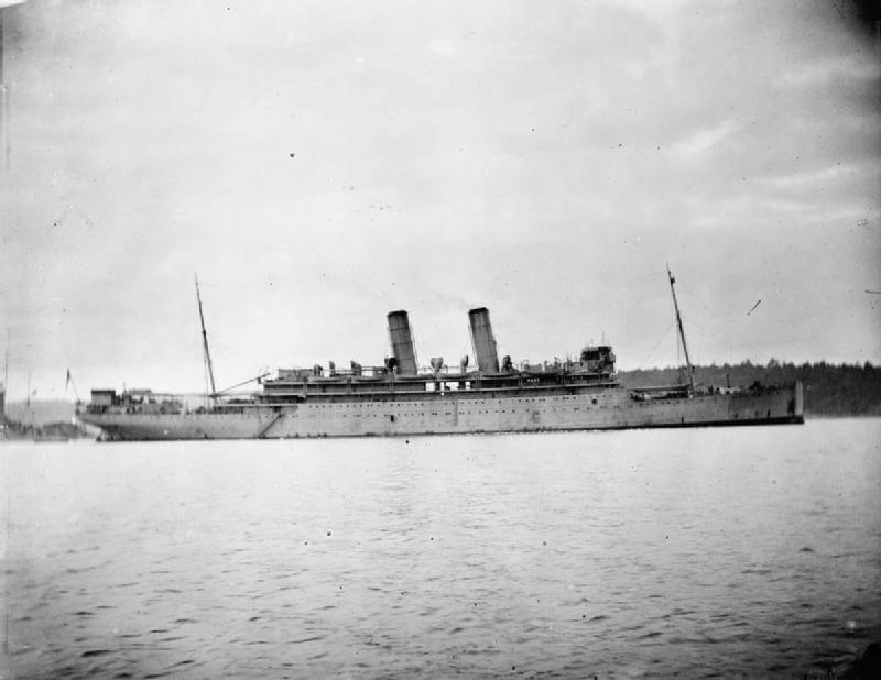 Rear Admiral Sir Christopher Cradock's armed merchant cruiser HMS Otranto