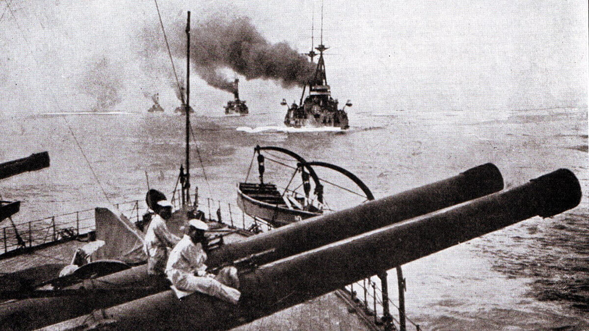 Japanese Battleships in 1914