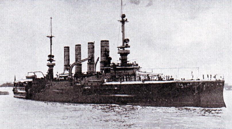 Admiral Graf von Spee's second protected cruiser SMS Gneisenau